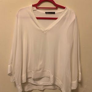 {Zara} White Blouse